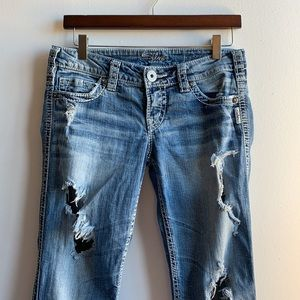 Lowrise Silver Jeans Bootcut with Holes